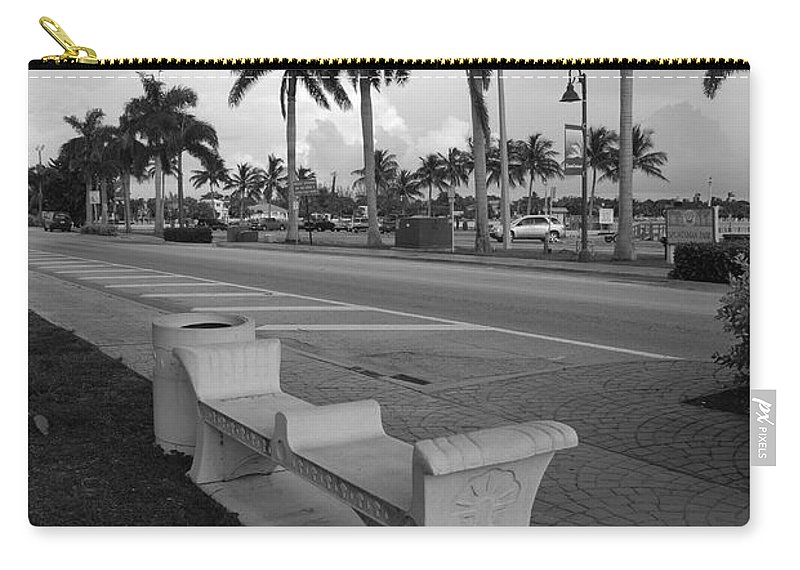 Black And White Carry-all Pouch featuring the photograph Lantana by Rob Hans