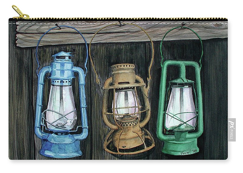 Lanterns Carry-all Pouch featuring the painting Lanterns by Ferrel Cordle