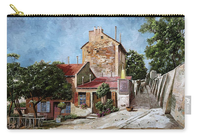 Lapin Agile Carry-all Pouch featuring the painting Lapin Agile by Guido Borelli