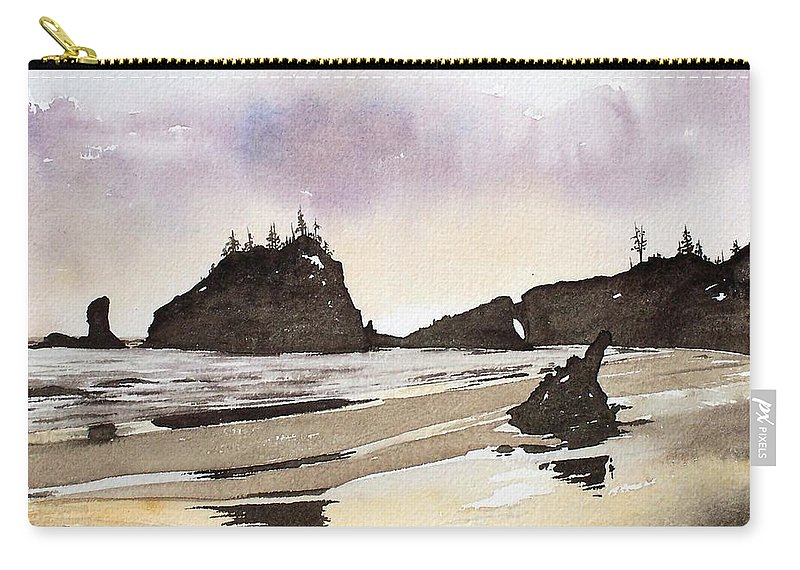 Washington Carry-all Pouch featuring the painting Lapush by Gale Cochran-Smith