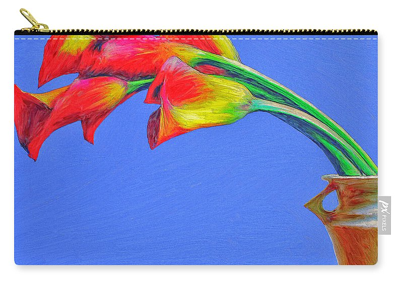 Flowers Carry-all Pouch featuring the painting L'arc De Feu by Dominic Piperata