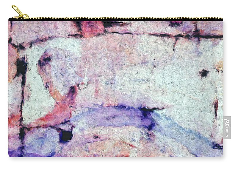 Abstract Carry-all Pouch featuring the painting Laredo by Dominic Piperata