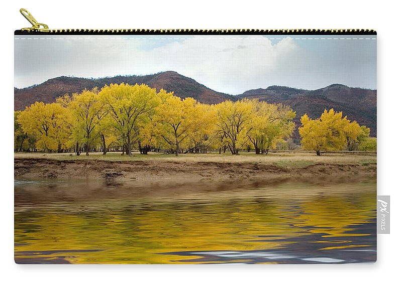 River Carry-all Pouch featuring the photograph Las Animas Fall by Jerry McElroy