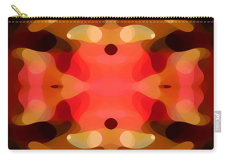 Abstract Painting Carry-all Pouch featuring the digital art Las Tunas Abstract Pattern by Amy Vangsgard