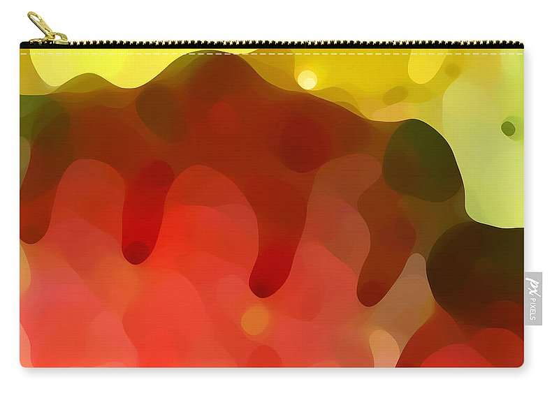Abstract Carry-all Pouch featuring the painting Las Tunas Ridge by Amy Vangsgard