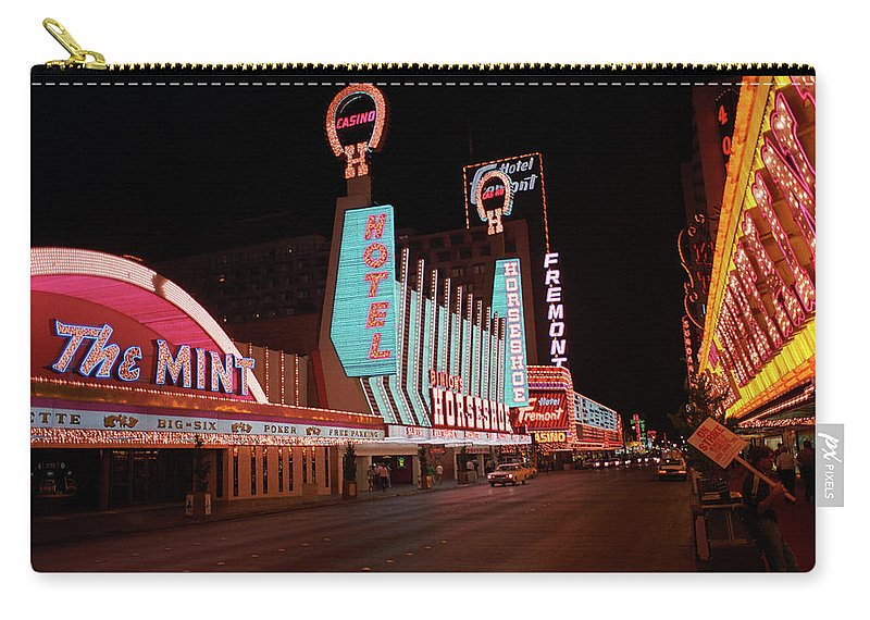 Art Carry-all Pouch featuring the photograph Las Vegas 1983 #4 by Frank Romeo