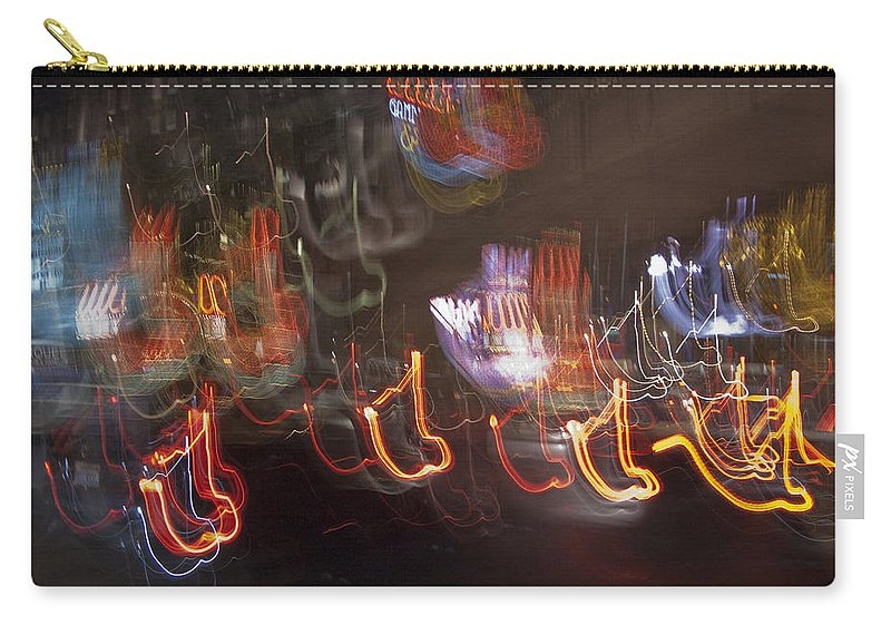 Las Vegas Carry-all Pouch featuring the photograph Las Vegas Strip 2222 by Bob Neiman
