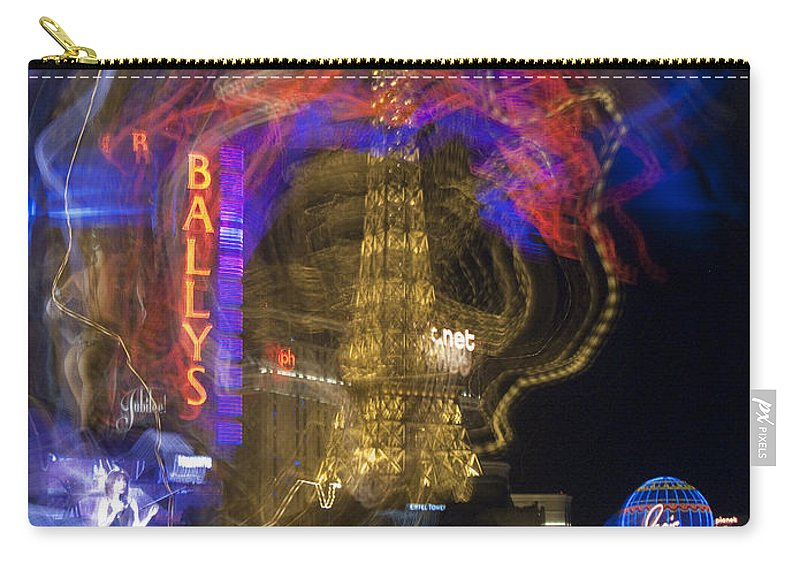 Bally Carry-all Pouch featuring the photograph Las Vegas Strip 2224 by Bob Neiman