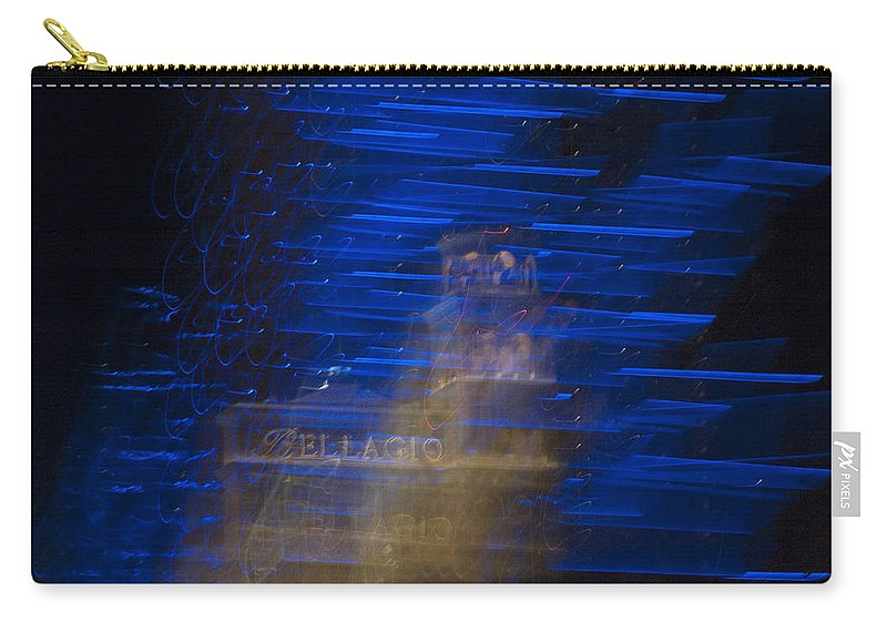 Blue Carry-all Pouch featuring the photograph Las Vegas Strip 2278 by Bob Neiman