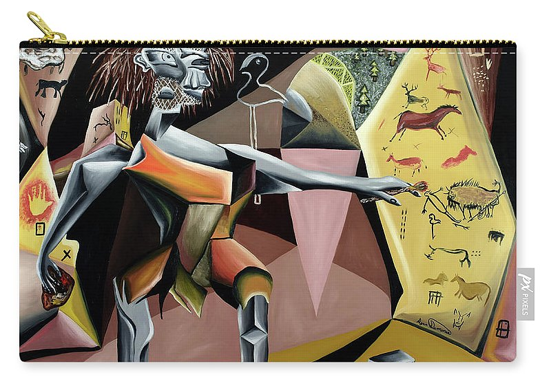 Abstract Carry-all Pouch featuring the painting Lascaux by Ryan Demaree