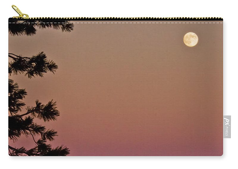 Full Moon Carry-all Pouch featuring the photograph Lassen Sunset by Albert Seger