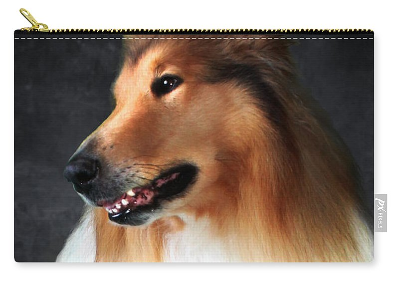 Dog Carry-all Pouch featuring the photograph Lassie- Collie by Sandra Moore