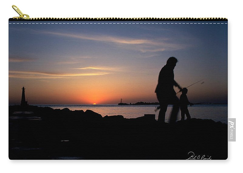 Color Carry-all Pouch featuring the photograph Last Catch Of The Day by Frederic A Reinecke