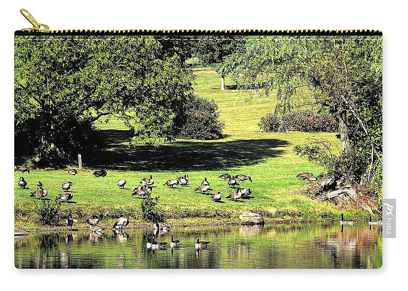 Bird Carry-all Pouch featuring the photograph Last Days Of Summer by Gaby Swanson