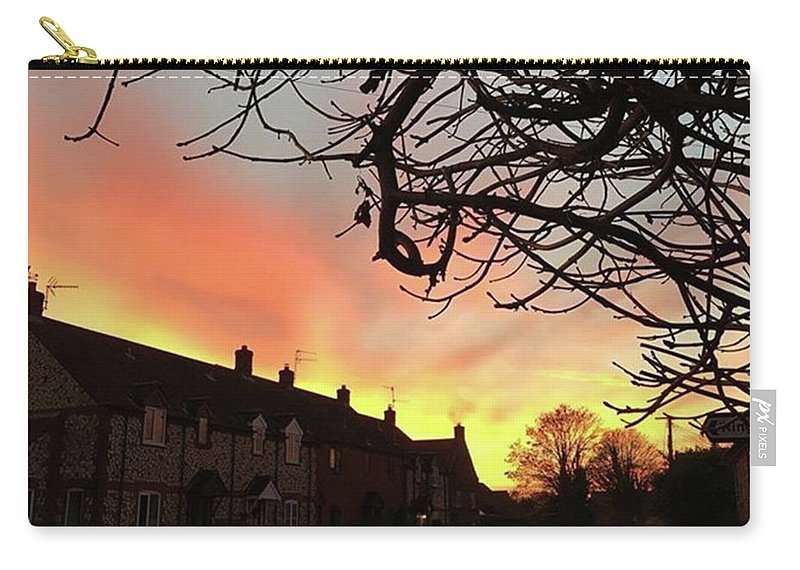 Natureonly Carry-all Pouch featuring the photograph Last Night's Sunset From Our Cottage by John Edwards