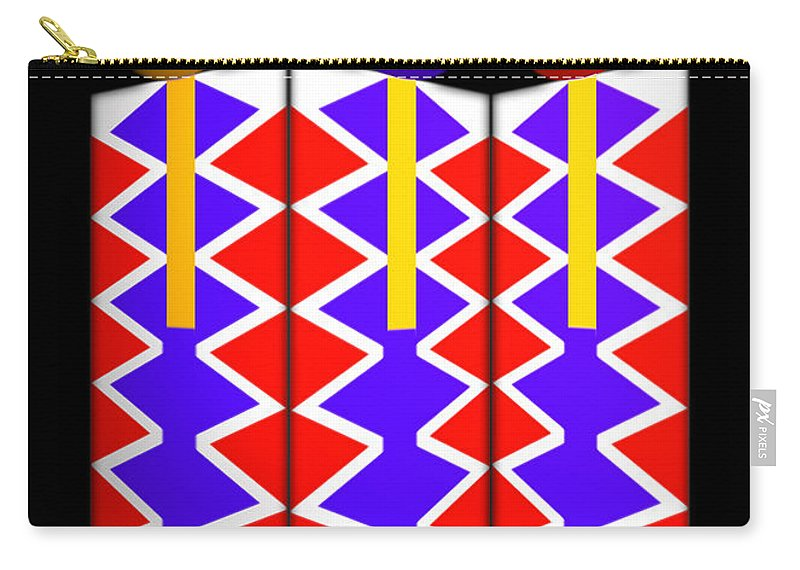 Native American Carry-all Pouch featuring the painting Last Of The Mohicans by Charles Stuart