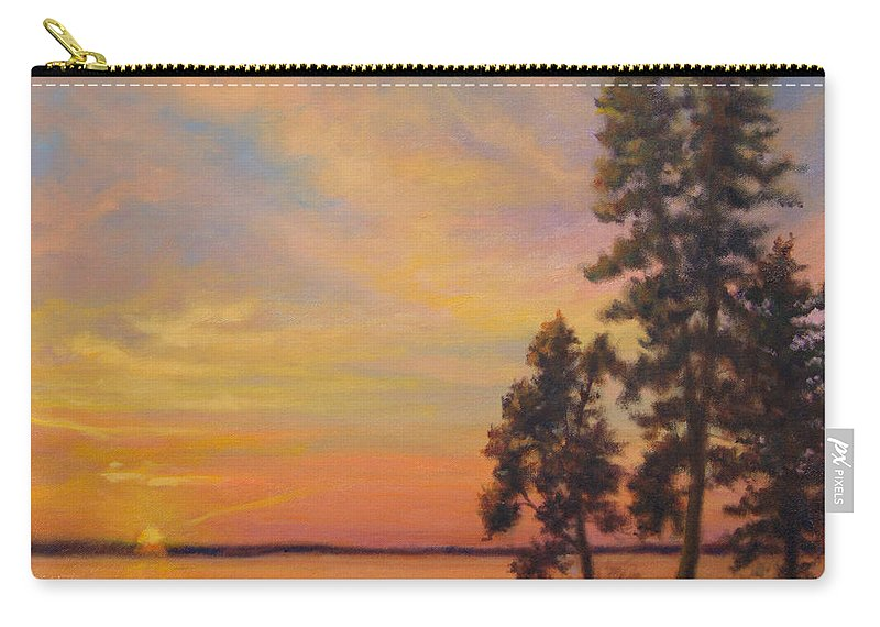 Landscape Carry-all Pouch featuring the painting Last Rays by Phyllis Tarlow