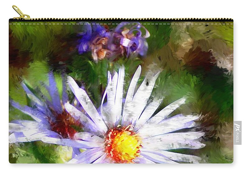 Flower Carry-all Pouch featuring the photograph Last Rose Of Summer by David Lane