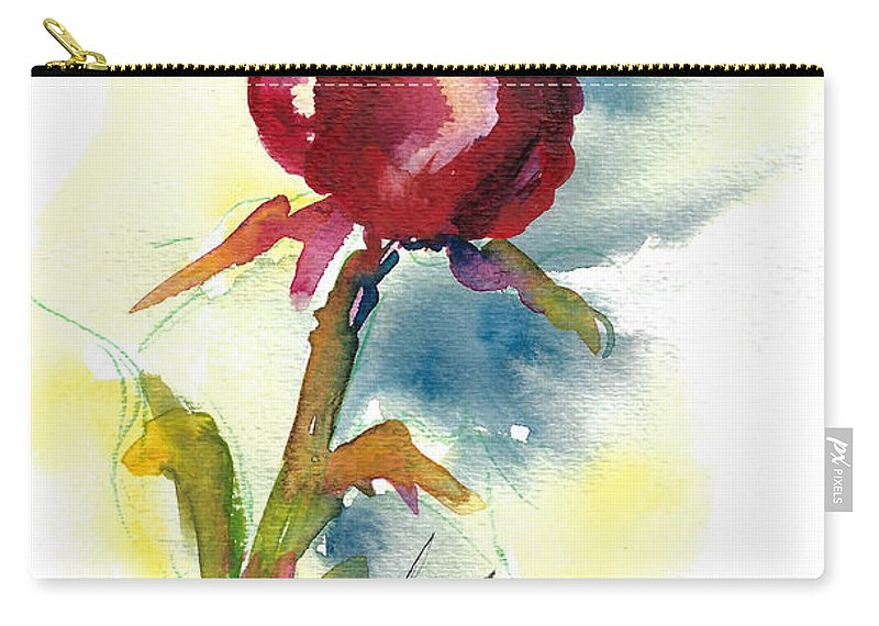Rose Painting Carry-all Pouch featuring the painting Last Rose Of Summer by Jacki Kellum