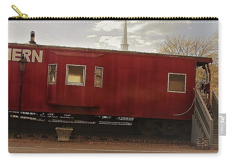 Southern Rail Road Carry-all Pouch featuring the photograph Last Stop by Aaron Martens