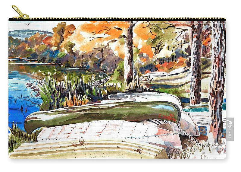 Last Summer In Brigadoon Carry-all Pouch featuring the painting Last Summer In Brigadoon by Kip DeVore