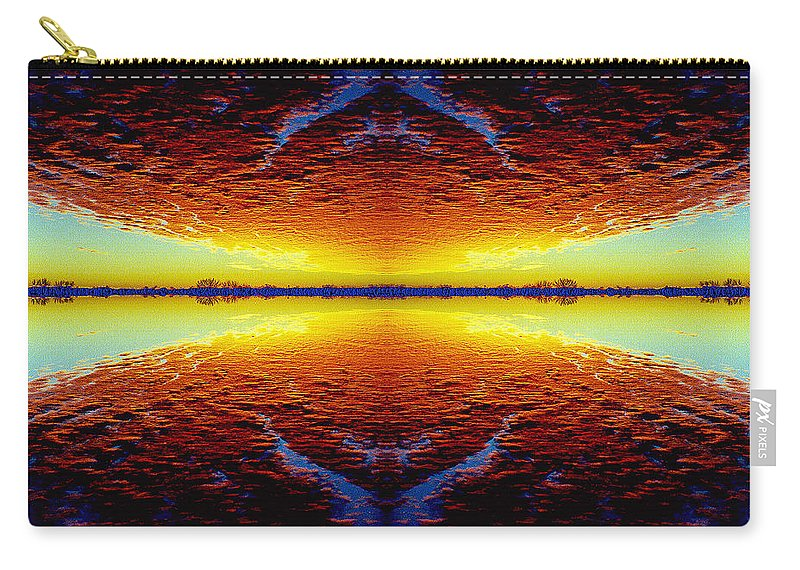 Sunset Carry-all Pouch featuring the photograph Last Sunset by Nancy Mueller