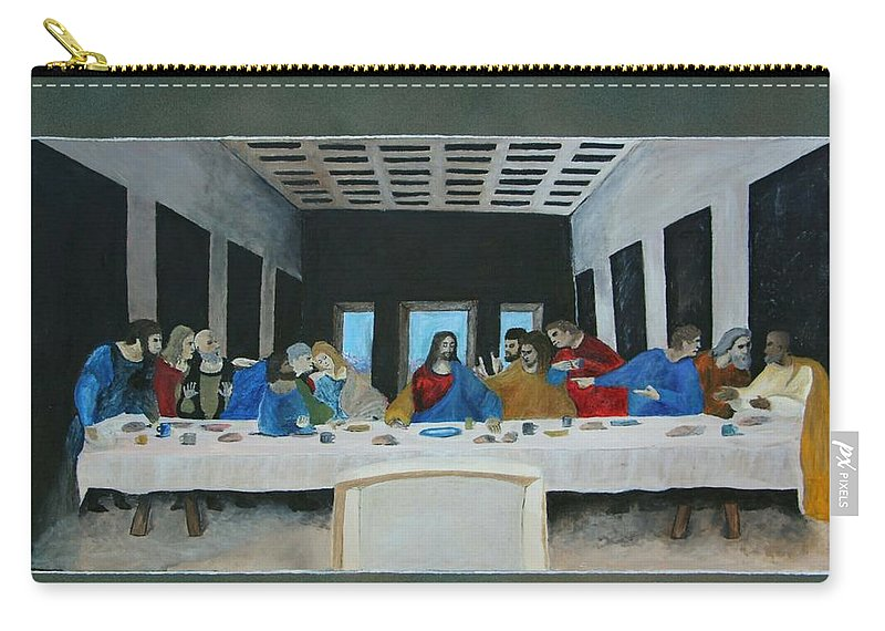 Last Carry-all Pouch featuring the painting Last Supper by Andrew Torres