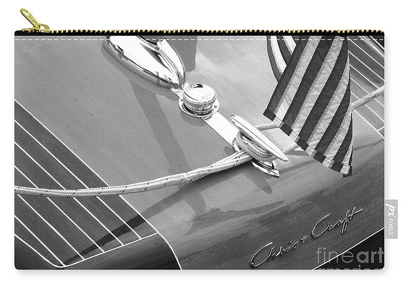 Chris Craft Carry-all Pouch featuring the photograph Late 1940's Chris Craft Custom by Neil Zimmerman