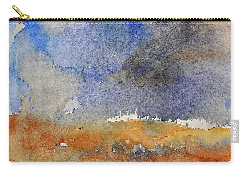 Watercolour Carry-all Pouch featuring the painting Late Afternoon 10 by Miki De Goodaboom