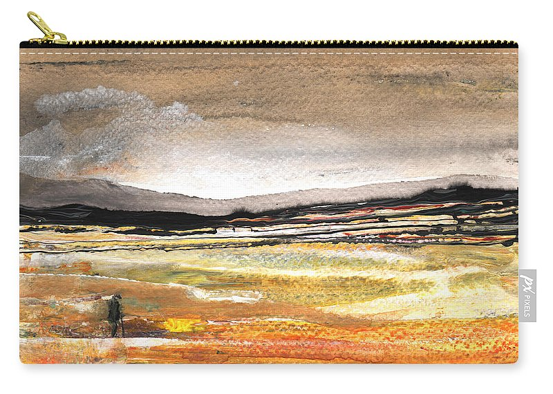 Watercolour Landscape Carry-all Pouch featuring the painting Late Afternoon 27 by Miki De Goodaboom