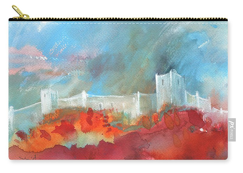Landscapes Carry-all Pouch featuring the painting Late Afternoon 32 by Miki De Goodaboom