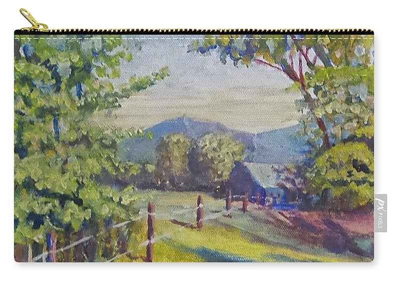 Carry-all Pouch featuring the painting Late Afternoon Shadows by James H Phillips