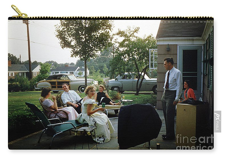 Retro Carry-all Pouch featuring the photograph Late Afternoon Summer Party by Wernher Krutein