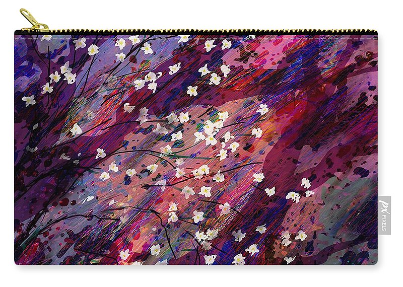 Abstract Carry-all Pouch featuring the digital art Late Bloomers by Rachel Christine Nowicki