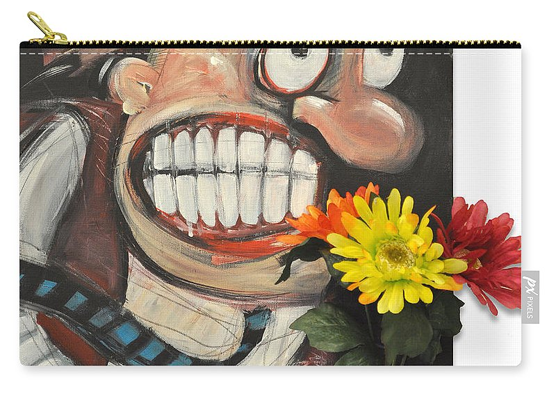 Flowers Carry-all Pouch featuring the painting Late For A Date by Tim Nyberg