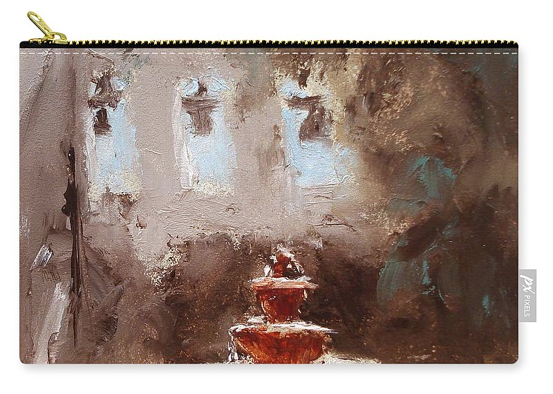 Water Carry-all Pouch featuring the painting Late Light by Barbara Andolsek