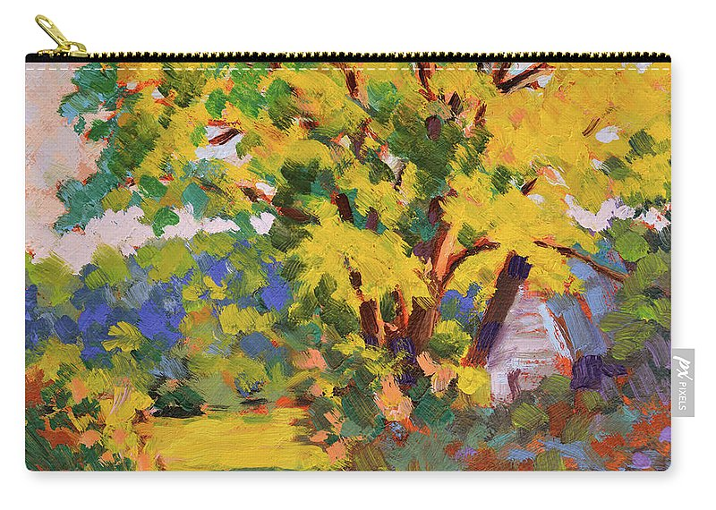 Impressionism Carry-all Pouch featuring the painting Late Morning Light by Keith Burgess