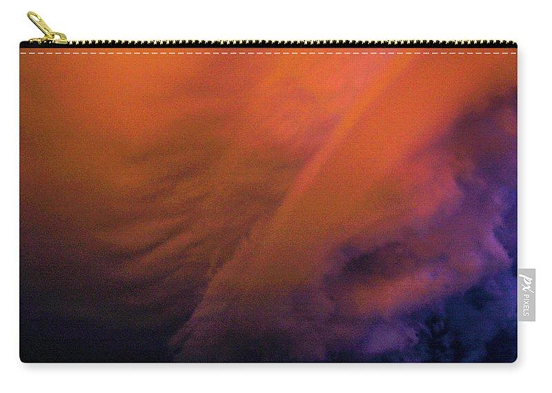 Nebraskasc Carry-all Pouch featuring the photograph Late Night Nebraska Shelf Cloud 009 by NebraskaSC