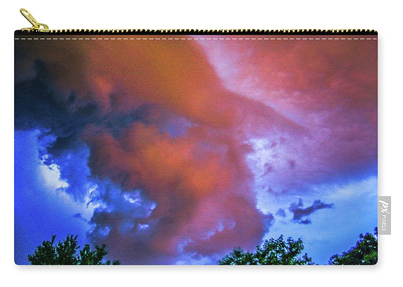 Nebraskasc Carry-all Pouch featuring the photograph Late Night Nebraska Shelf Cloud 010 by NebraskaSC