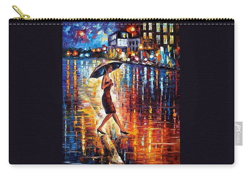Afremov Carry-all Pouch featuring the painting Late Return by Leonid Afremov