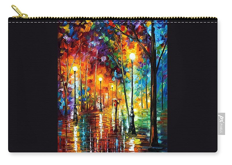 Afremov Carry-all Pouch featuring the painting Late Stroll by Leonid Afremov