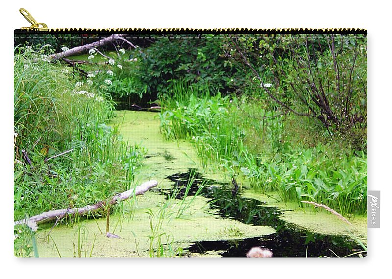 Pine Falls Manitoba Creek Water Carry-all Pouch featuring the photograph Late Summer At The Creek by Joanne Smoley