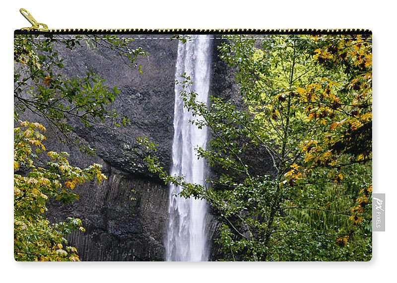 Waterfalls Carry-all Pouch featuring the photograph Latourell Falls by Albert Seger