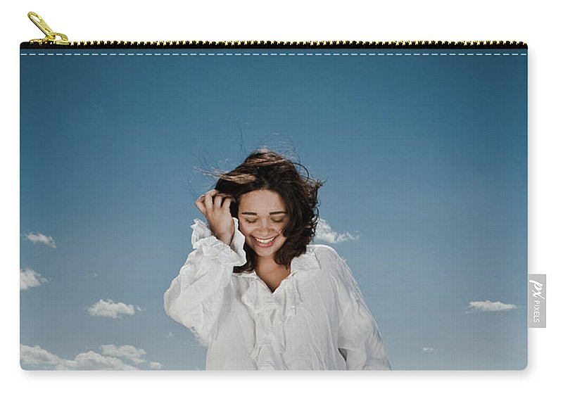 Woman Carry-all Pouch featuring the photograph Laughing Sky by Scott Sawyer