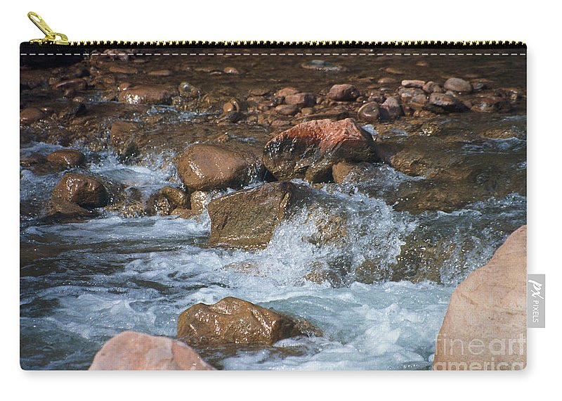 Creek Carry-all Pouch featuring the photograph Laughing Water by Kathy McClure