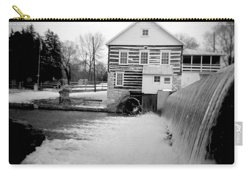 Photograph Carry-all Pouch featuring the photograph Laughlin Mill by Jean Macaluso