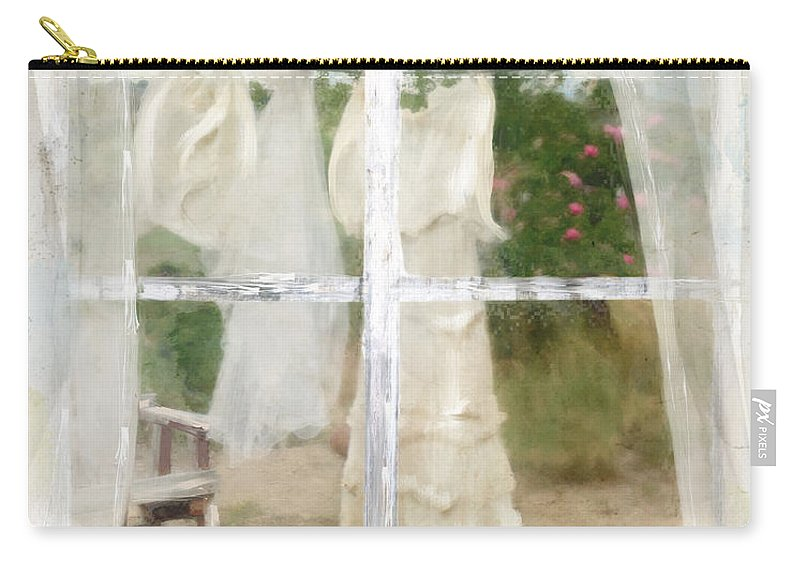 Laundry Carry-all Pouch featuring the painting Laundry Day by Mindy Sommers