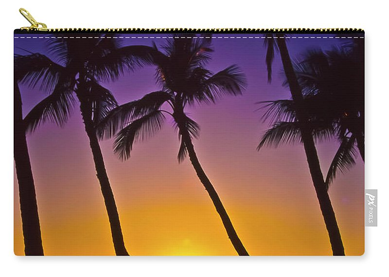 Sunset Carry-all Pouch featuring the photograph Launiupoko Sunset by Jim Cazel