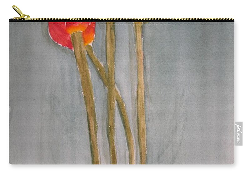 Tulip Flower Bouquet Carry-all Pouch featuring the painting Laura by Patricia Caldwell