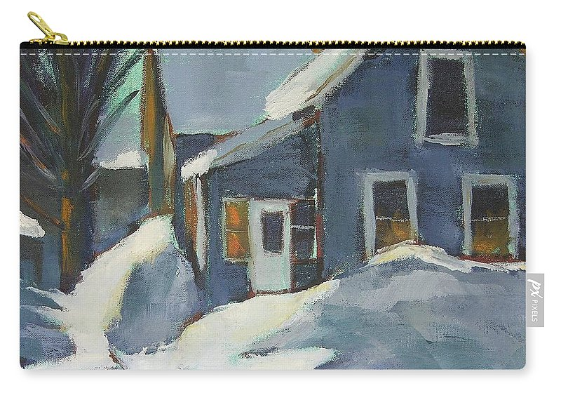 Oil Carry-all Pouch featuring the painting Laura's House by Mary McInnis
